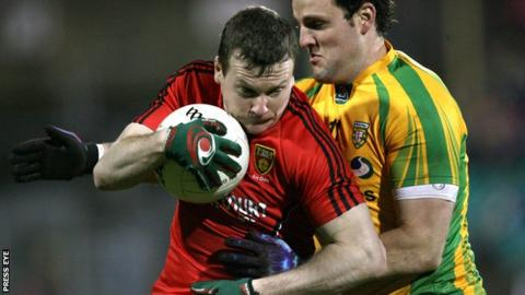 Down's Daniel McCartan and Donegal's Michael Murphy