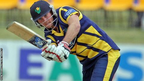 Christopher Cooke hits out for Glamorgan against the Unicorns