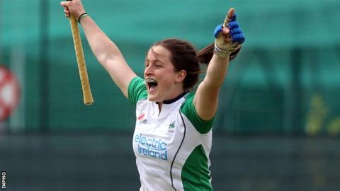 Lisa Jacob scored for Ireland against Scotland