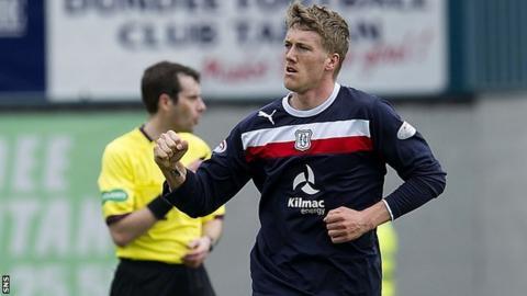 Dundee midfielder Jim McAlister