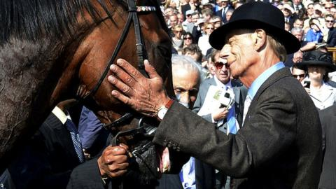 Sir Henry Cecil with Frankel