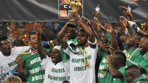 Nigeria lift the 2013 Africa Cup of Nations