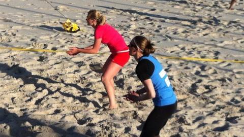 Jersey's women's team training