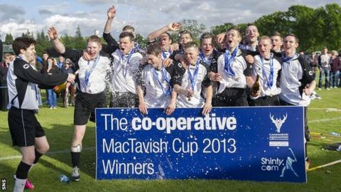 Lovat celebrate winning the MacTavish Cup