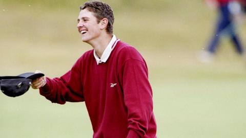 Justin Rose at the 1998 Open at Royal Birkdale