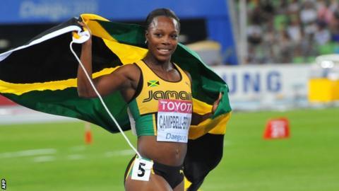 Jamaica sprinter Veronica Campbell-Brown