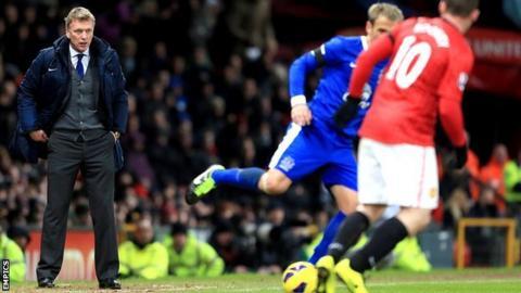 David Moyes watches a game at Old Trafford