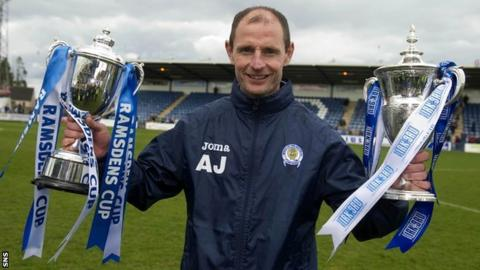 Queen of the South manager Allan Johnston