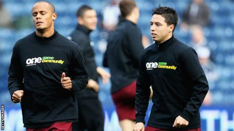 Vincent Kompany and Samir Nasri