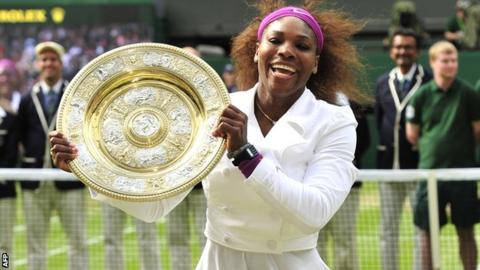 Wimbledon champion Serena Williams