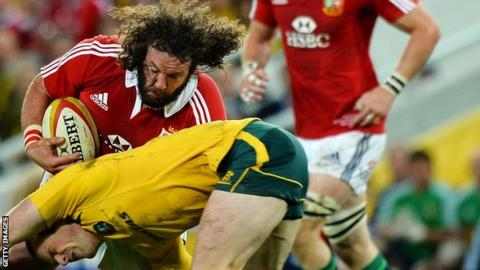 Adam Jones takes on the Wallabies