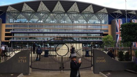 The grandstand at Ascot, completed in 2006