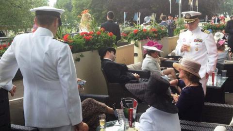 Sailors in the Royal Enclosure