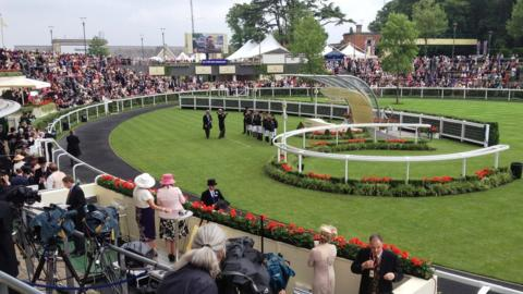 Parade ring at Royal Ascot