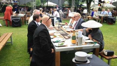 Communal cuisine at Royal Ascot