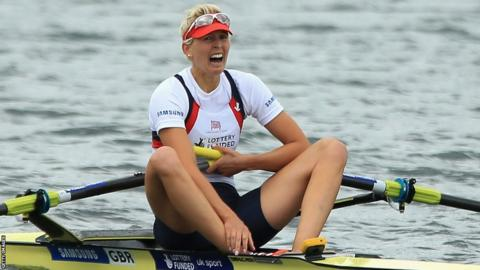 Victoria Thornley just misses out on a medal in the Women's single sculls final at Eton Dorney