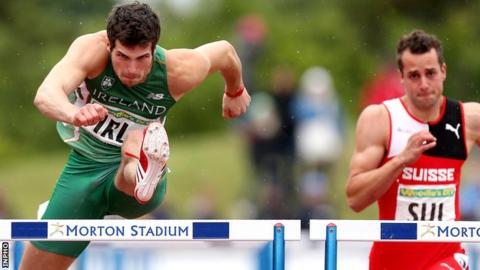 Ben Reynolds secured 10 points for Ireland in the 100 metres hurdles
