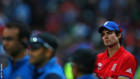 Disappointed England captain Alastair Cook