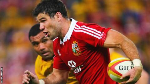Mike Phillips in action for the Lions against Australia in the first Test match in Brisbane