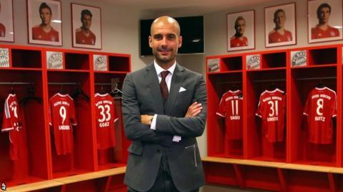 New Bayern Munich head coach Pep Guardiola
