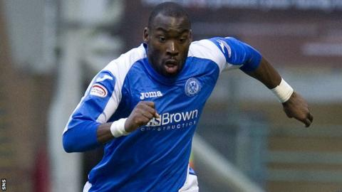 St Johnstone striker Gregory Tade