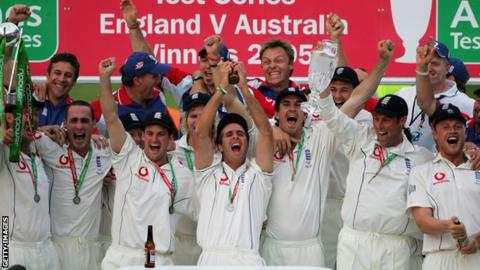 England win the Ashes 2005