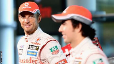 Jenson Button Sergio Perez McLaren