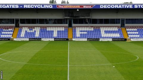The Moss Rose, home of Macclesfield Town
