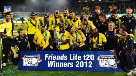 Hampshire celebrate T20 win