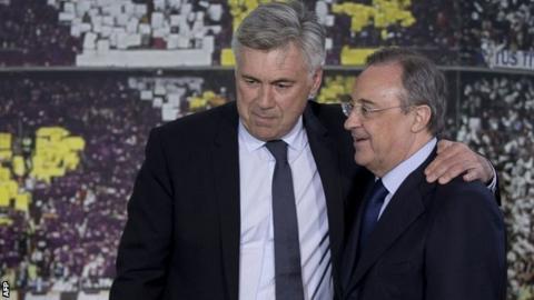 Carlo Ancelotti and Florentino Perez