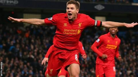 Liverpool midfielder Steven Gerrard