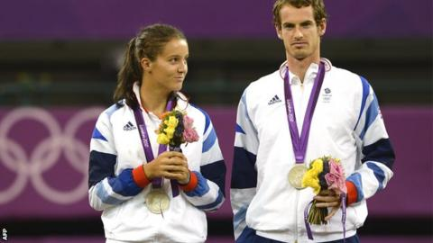 Britain's Laura Robson and Andy Murray