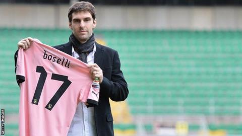 Wigan's Mauro Boselli who finished the season on loan at Palermo
