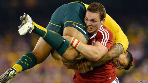 Australia v British Lions second Test George North Israel Folau