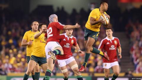 Australia v British Lions second Test Kurtley Beale