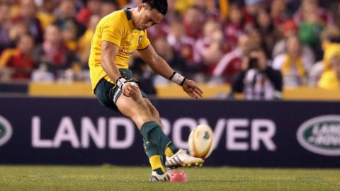 Australia v British Lions second Test Christian Leali'ifano