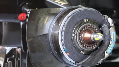 British Grand Prix brake pads and calipers