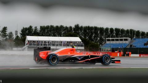 British Grand Prix Max Chilton practice