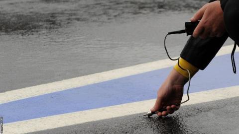 British Grand Prix tyre technician