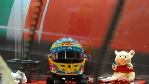 British Grand Prix Fernando Alonso helmet