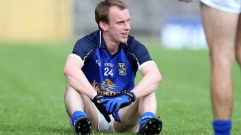 It's dejection at the final whistle for Martin Reilly as Cavan miss out on a place in the Ulster final