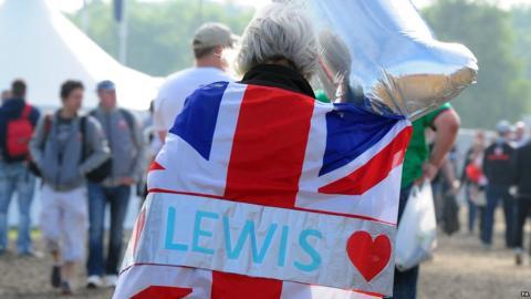 British Grand Prix Lewis Hamilton fan