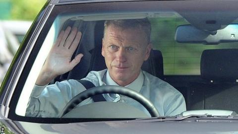 David Moyes arrives at Manchester United's training ground