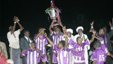 Vital'O celebrate winning the Cecafa Cup