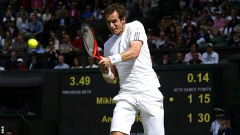 Andy Murray is seeded two at Wimbledon