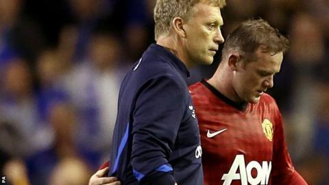 David Moyes and Wayne Rooney