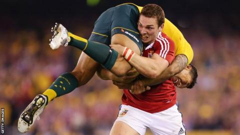 George North lifts Israel Folau