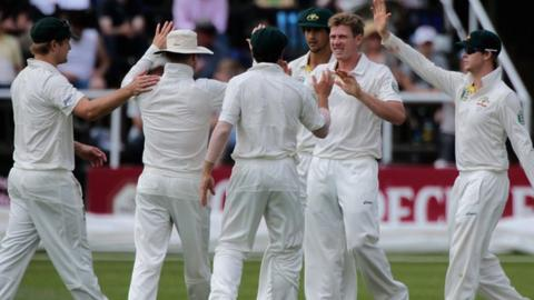 James Faulkner (second right) celebrates a wicket