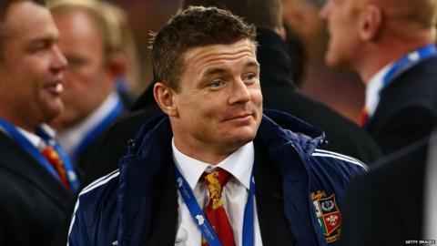 Australia v British and Irish Lions third Test Brian O'Driscoll pre-match
