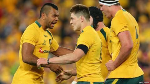 Australia v British and Irish Lions third Test James O'Connor congratulated